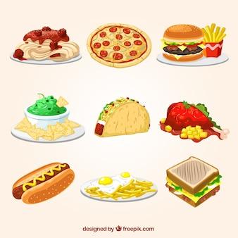 Veloci illustrazioni alimentari