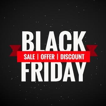 Venerdì nero vendita sconto e offerta