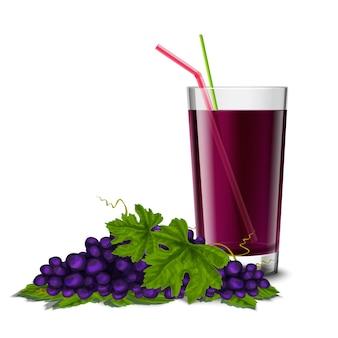 Vetro di succo d'uva
