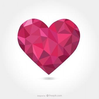 Vettore a forma di cuore triangolare