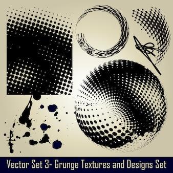Vettore astratto grunge set elementi e design