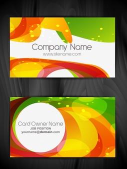 Vettore colorato disegno astratto business card