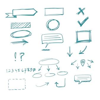 Vettore di doodle