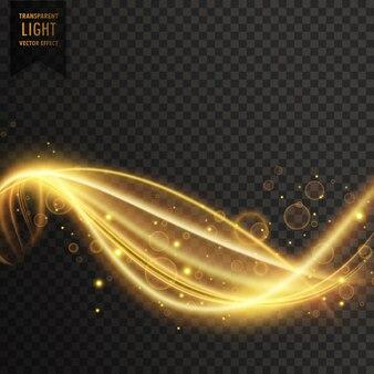 Vettore di luce trasparente di turbine dorato
