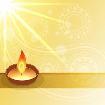 Vettore diwali desidera illustrazione di progettazione