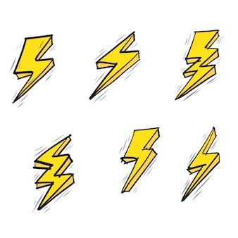 Vettore flash di doodle