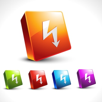Vettore freccia 3d icona di progettazione