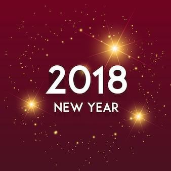 Vettore Nuovo Anno 2018 Sfondo