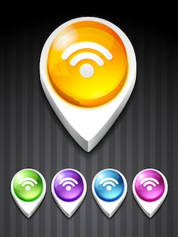Vettore rss feed icon design art