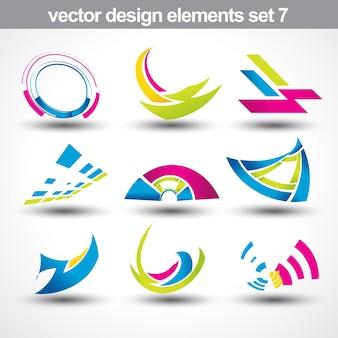 Vettore set di forma astratta 7
