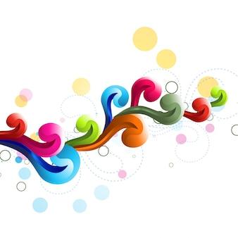 Vettore sfondo colorato stile floreale