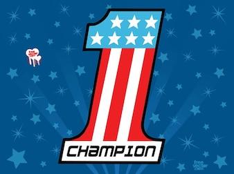 Vincitore simbolo americano logo