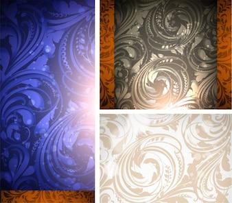 Vino pattern frame brochure di confine