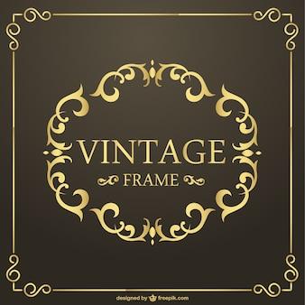 Vintage cornice dorata vettoriale