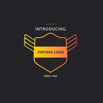 Vintage logo modello di progettazione