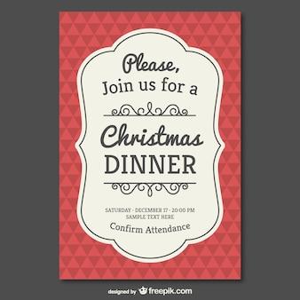 Vintage modello di invito di Natale