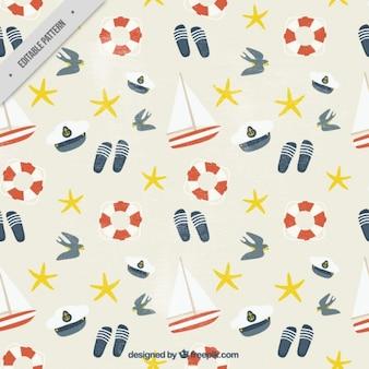 Vintage pattern di elementi Salor