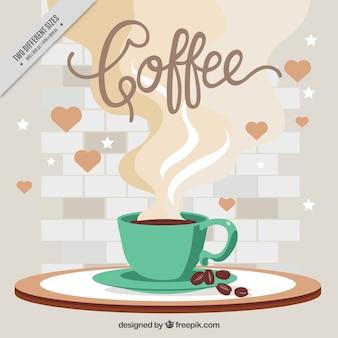 Vintage sfondo della tazza di caffè
