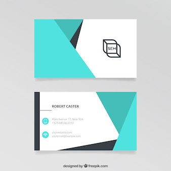 Visit Card astratto