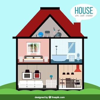 Interior design foto e vettori gratis for Design della casa a 3 piani