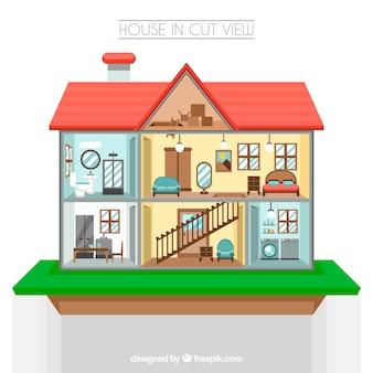 Camere isometrici set scaricare vettori gratis for Design della mappa di casa