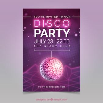 Volantino del partito della discoteca