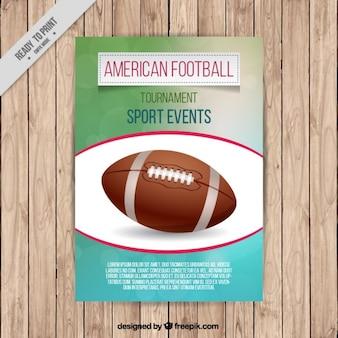 volantino di football americano