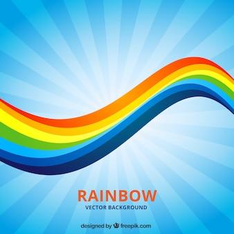 Wavy sfondo arcobaleno