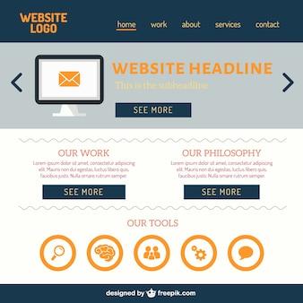 Web design piatto vettoriale