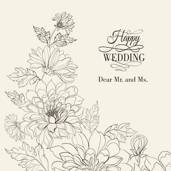 Wedding sfondo floreale