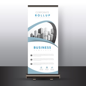 White roll up banner