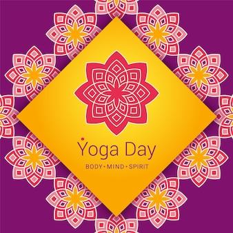 Yoga sfondo di giorno