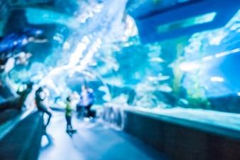Abstract vervagen en defocused onderwater van aquarium tunnel tank
