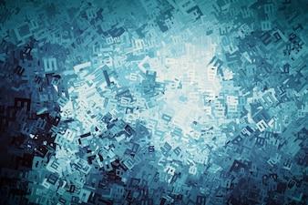 Abstracte achtergrond gemaakt met nummers