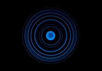 Abstracte achtergrond met blauwe cirkels
