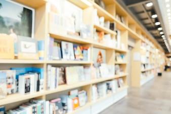 Abstracte vervaging en defocused bibliotheek en boekwinkel winkel interieur