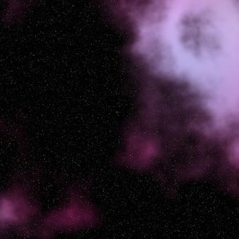 Achtergrond van de nachthemel met nevel en sterren