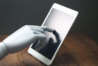 AI robot operationele tablet
