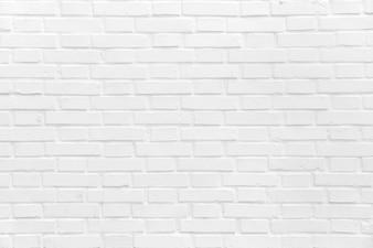 Bakstenen muur geschilderd in het wit