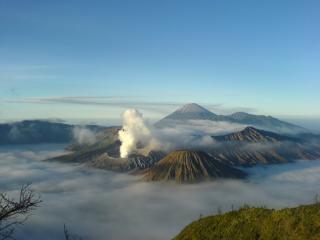 berglandschap, de vulkaan