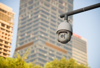 Beveiligingscamera en stedelijke video