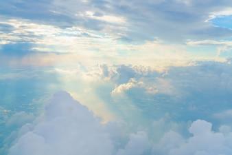 Bewolkt landschap cumulus haze scenic