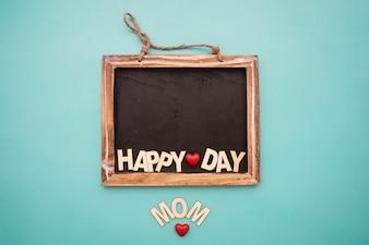 Blackboard met het van letters voor moederdag
