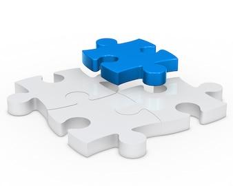 Blauw puzzelstukje