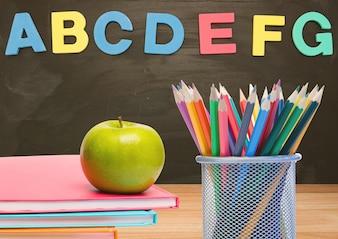 Bord tekst kleurrijke scholen professional