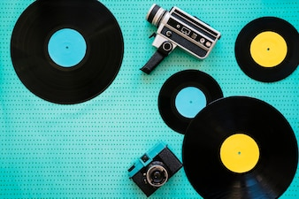 Camcorder, camera en vinyl