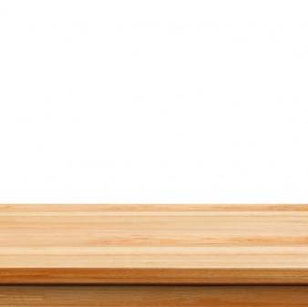 Close-up Clear houten studio achtergrond op een witte achtergrond - wel