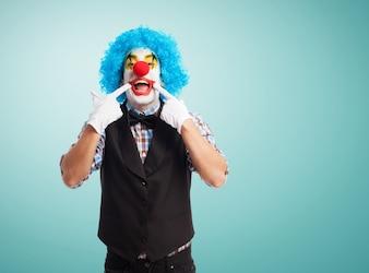 Clown glimlachen