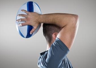 Computer grafische bezetting deskundigheid vrij rugbyspeler