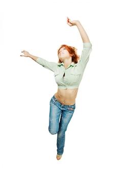 Dansende rode meid